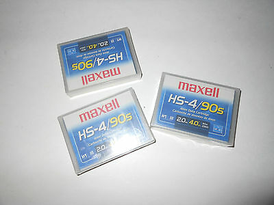 Lot of 3x  Maxell HS-4 / 90s 2 GB DDS  Data Cartridge Backup Tape