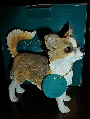 Long Haired Chihuahua Figurine Ornament Dog Studies from Leonardo Gift Boxed
