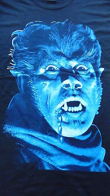 New,THE WOLFMAN T-Shirt Size XL.Classic Horror,Lon Chaney Jr,Bela Lugosi,Misfits