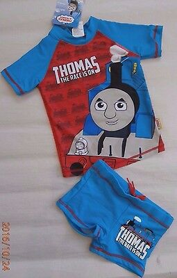 Bnwt Thomas The Tank Engine Boys Swimmers Swimming Costumes Set - Size 2