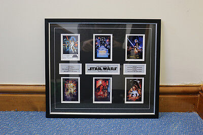 History of Star wars Film Cell Memorabilia Frame / Print / Poster / Picture