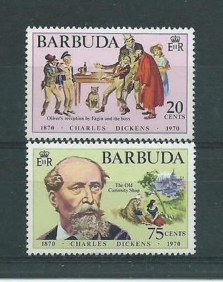Barbuda SG83-84 1970 Death Centenary of Charles Dickens Unhinged Mint