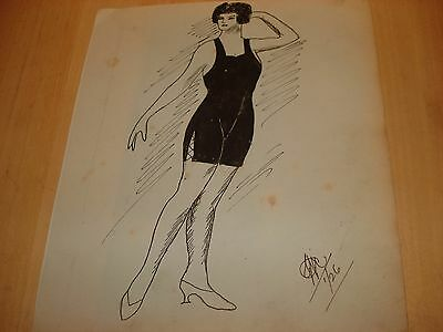 1926 ORIGINAL PEN & INK DRAWING - Signed & Dated
