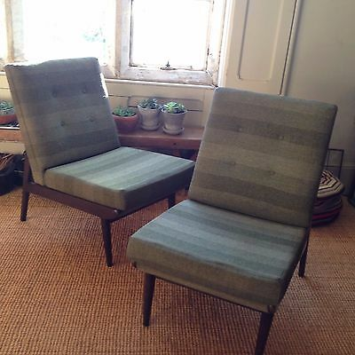 Vintage Pair Scandart 60/70's Cocktail chairs