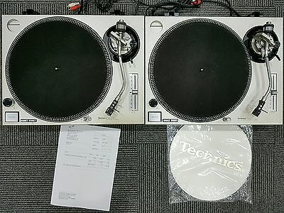 2 x Technics 1200 MKII Turntables - Just Serviced & Includes Brand New Slipmats
