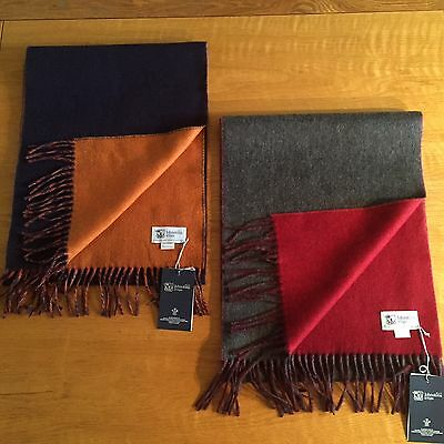 Gents Pure Cashmere Double Sided Scarves Made in Scotland
