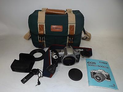 Vintage Canon Eos 500 N 35Mm Slr Camera Body Only + Official Carry Case