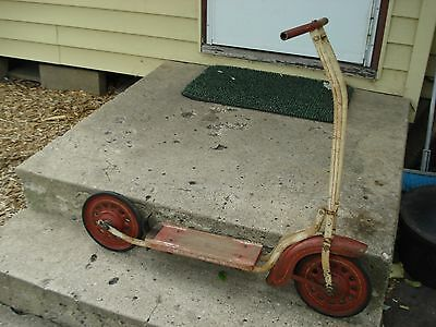 vintage childs scooter push type VERY NICE LOOK !!!!