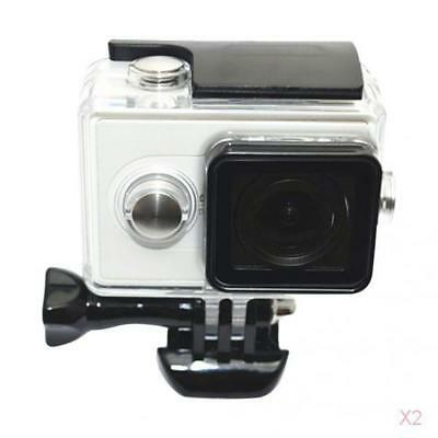 2pcs 30M Stainless Waterproof Case Frame Housing Shell for Xiaomi Yi Camera