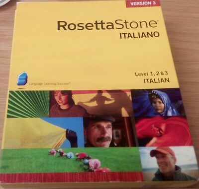 Rosetta Stone Italian Level 1 2 3 Version 3 Windows Mac