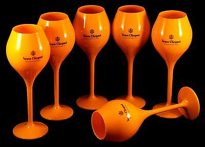 Champagne Veuve Clicquot Ponsardin: Orange Acrylic Limited Edition Taisting Glas