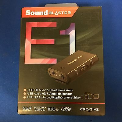 Creative Sound Blaster E1 USB Sound Card with Portable Headphone Amplifier