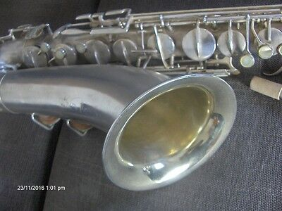 """sax Tenore HOLTON tipo """"Rudy Wiedoft"""" Silver/Gold"""