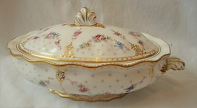Finest 1st Quality Royal Crowl Derby ROYAL ANTOINETTE Large Tureen & Cover