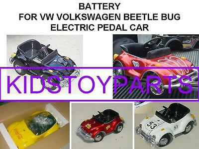 Battery For Vw Volkswagen Beetle Bug Electric Pedal Car