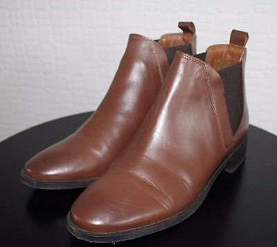 Womens Retro / Vintage Brown Leather Chelsea Boots | Size 7 UK