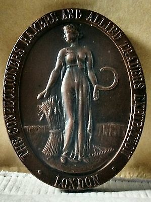 Bronze Medallion From 1922 Confectioners Baker's & Allied Traders exhibition.