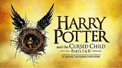 HARRY POTTER AND THE CURSED CHILD-Tickets for 2 people-STALLS-Part 1&2-July 2017