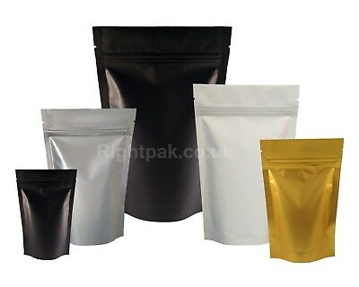 Matt Stand Up Pouches Supplements Packaging Foil Bag Zip Lock Heat Seal Bags
