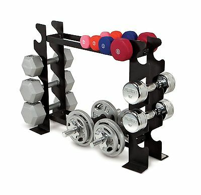 Marcy Multiple Dumbbell Weight Rack, 2 Tier Dumb Bell Fitness Workoum