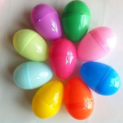 Plastic DIY Toy Eggs 12 PCs Easter Painting Colorful Hanging Simulation Ornament