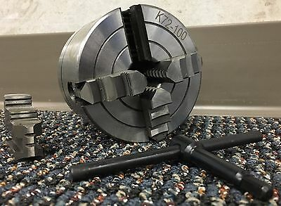 4 INCH (100mm) 4 JAW INDEPENDENT LATHE CHUCK 5C COLLET ARBOR SHANK MOUNT