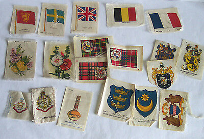 BDV Godfrey Phillips – Silk Cigarette Cards – various x 18 – dated 1912 to 1924
