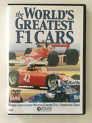 The World's Greatest F1 Cars (DVD, 2001) Good Cond. - Atlas Editions Collectable