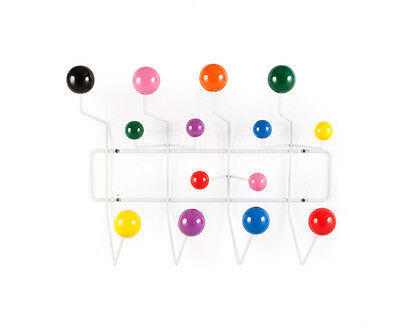 Eames Style Hang it all coat hook/ rack with multi coloured balls