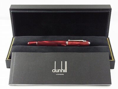 dunhill Mini Sidecar Marble Red Fountain Pen F (Excellent)