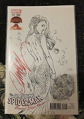 The Amazing Spiderman Renew Your Vows #1 - Sketch Ex (J Scott Campbell) - Signed