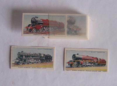 Cards – Wills Cigarette – Railway Engines (1936) set of 50 – reprint in 1993