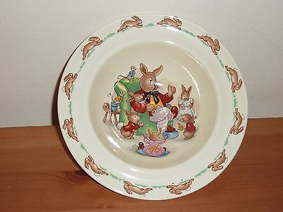 Rare Vintage Royal Doulton Bunnykins Bowl - Father/Grand Father Telling Stories