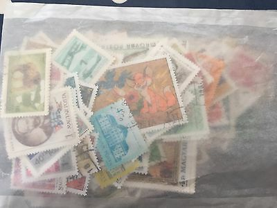 Bag of stamps from Hungary mostly commemoratives nice good themes