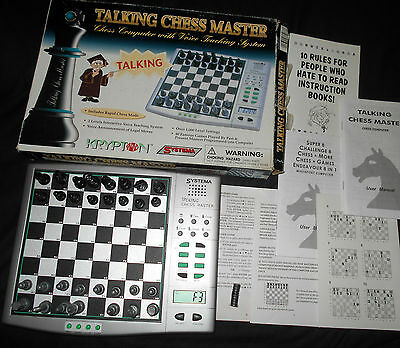 Systema Talking Chess Master  Chess Computer With Manual And Box