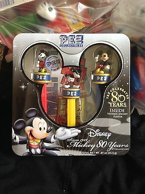 Mickey Mouse 80 Years Pez Collectors Tin