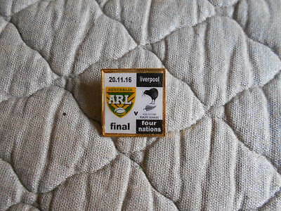 Australia V New Zealand 4 Nations 2016 Final Plastic Insert Badge