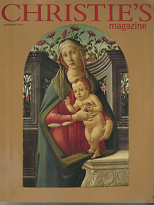 Collectible Antiques Christie's Magazine Dec06 andro Botticelli Madonna Child