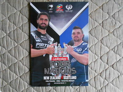 New Zealand V Scotland 4 Nations 2016 Match Programme