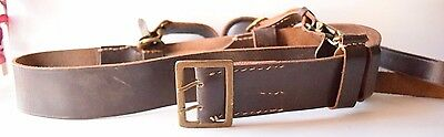 Vintage Genuine Leather Thick Belt For Holster Military Police Army Hunting