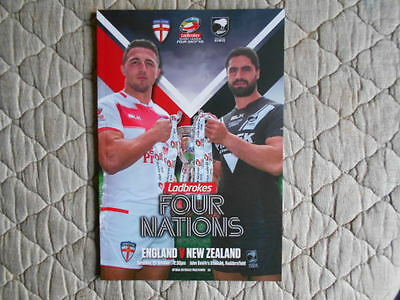 England V New Zealand 4 Nations 2016 Match Programme & Team Sheet