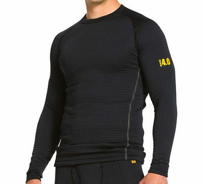 Under Armour UA BASE™ 4.0 Crew Neck Thermal Black Fitted Long Sleeve Top Med-3XL