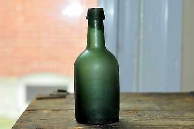 Antique Small Hand Blown Green Bottle