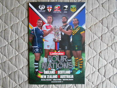 4 Nations 2016 Double Header Match Programme With Nz V Australia Team Sheet