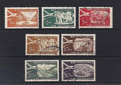 Yugoslavia 1951/52 - Airmail stamps selection (ref 2213)