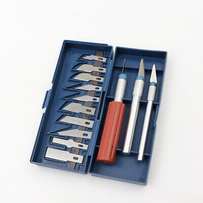 16pc Hobby Razor Knife Set with Case (Exacto Blades fits knife) Stencil