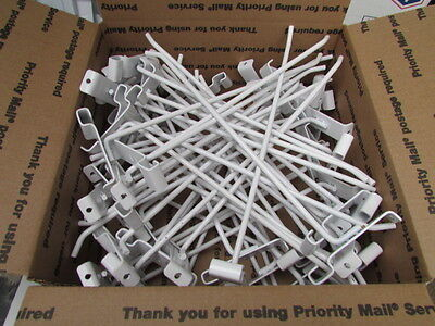"Lot of 50 - 12"" White Girdwall Peg Hook Wire Grid Panel Store Display Fixture"