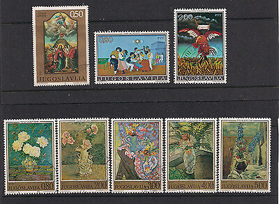 Yugoslavia - Paintings, selection of stamps (ref 424)