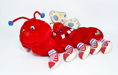 Commonwealth Lots A Leggggggs Legs Firey Red Plush Caterpillar Lights Butterfly