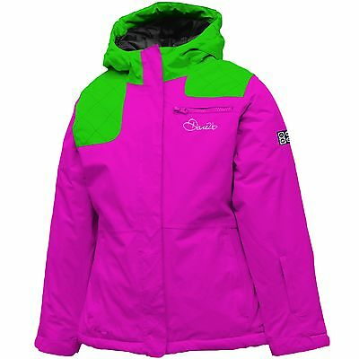 Dare2b Miss Behave Girls Waterproof Breathable Insulated Ski Jacket Pink 9-10